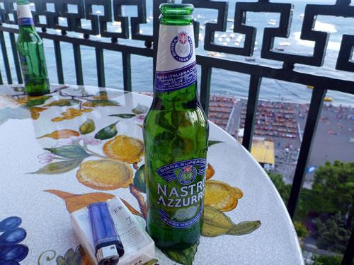 Hotel Buca di Bacco - Positano ポジターノ Nastro Azzurro ビール