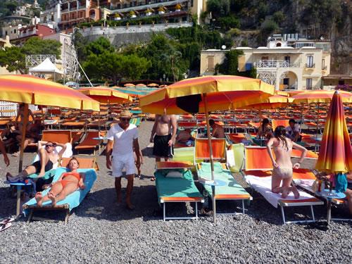 イタリア ポジターノ ビーチ