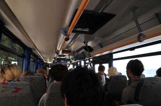 アマルフィから天空の城ラヴェッロへ! バスの中