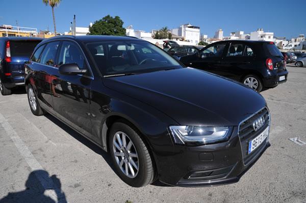 スペイン・ネルハ Europcarでレンタルさせて頂いたAUDI A4