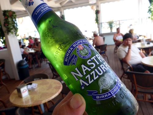 サン・ヴィート・ロ・カーポ Nastro Azzurroビール