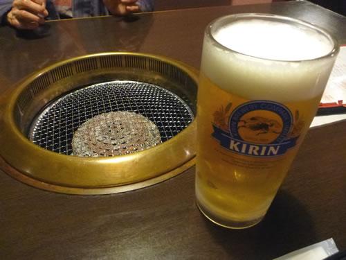 鹿児島県 霧島温泉 焼肉厨房 わきもと ビ、ビ、ビール!