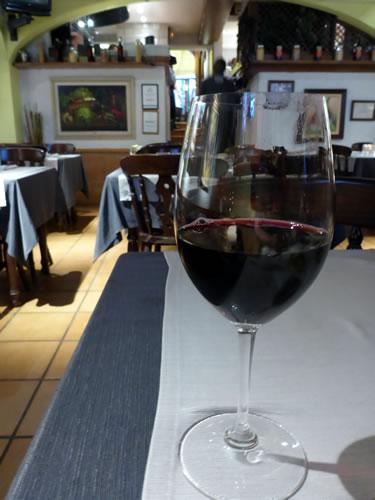 Braseria Pini Pizzeria 赤ワイン