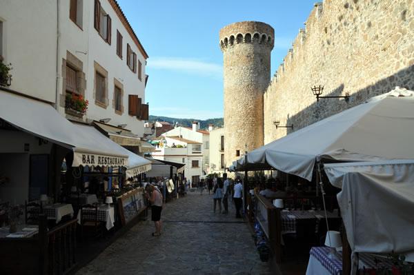 Castillo de Tossa de Mar レストラン街