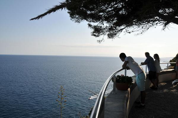 Castillo de Tossa de Marから見る地中海