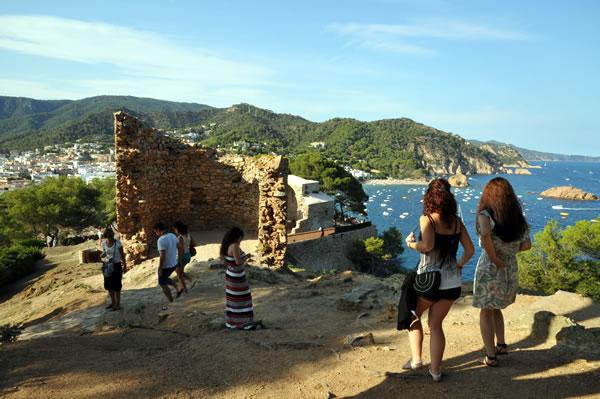 Castillo de Tossa de Mar 塔の残骸