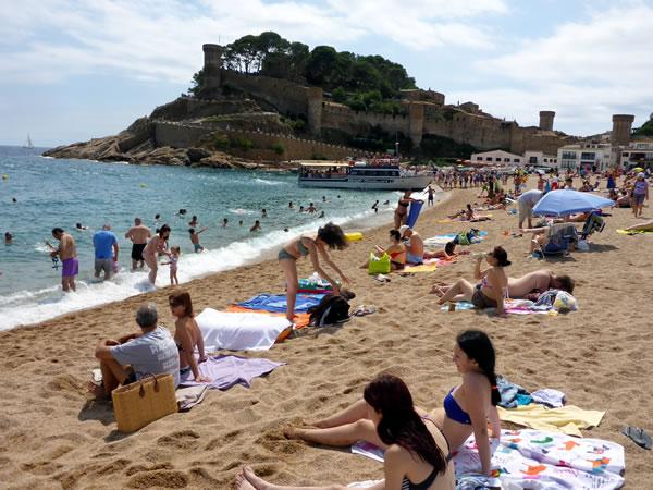 トッサ デ マールのビーチ