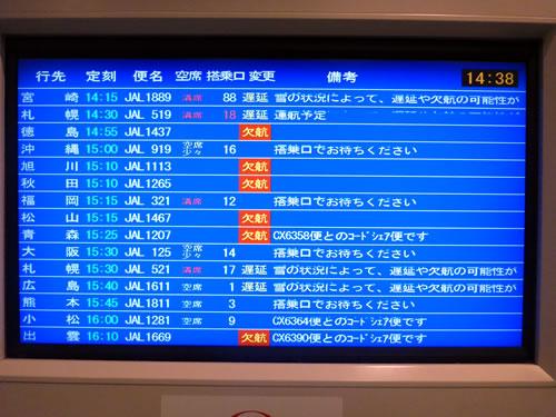 雪の羽田空港 欠航の嵐!