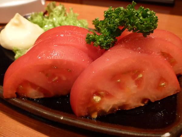 新橋 牛たん焼き 利助 烏森店 冷やしトマト