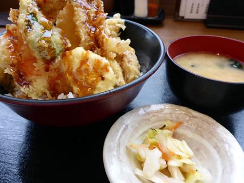 海老と穴子丼