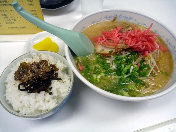 長崎 三八ラーメン 高菜ご飯